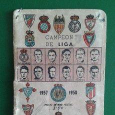Coleccionismo deportivo: CALENDARIO DE FUTBOL TEMPORADA LIGA 57 58 AÑO 1957 1958 1ª Y 2ª DIVISION DINAMICO. Lote 51445896