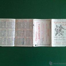 Coleccionismo deportivo: CALENDARIO DE FUTBOL TEMPORADA LIGA 63 64 CAMPEONATO NACIONAL SEGUNDA Y TERCERA DIVISION. Lote 51445947