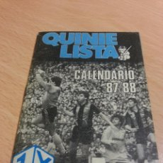 Coleccionismo deportivo: QUINIELISTA CALENDARIO 87-88. Lote 51571752