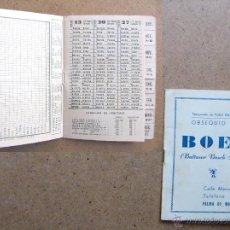 Libreta cuaderno calendario deportivo de futbol temporada de liga 1964 1965
