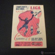 Coleccionismo deportivo: CALENDARIO CAMPEONATO NACIONAL DE LIGA 1949-50 / 1ª DIVISION. Lote 51689141