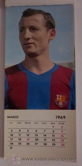 Coleccionismo deportivo: C.F. BARCELONA CALENDARIO AÑO 1969 - 13 POSTALES DE LOS JUGADORES DEL EQUIPO TEMPORADA 1969/70 - Foto 3 - 51919954