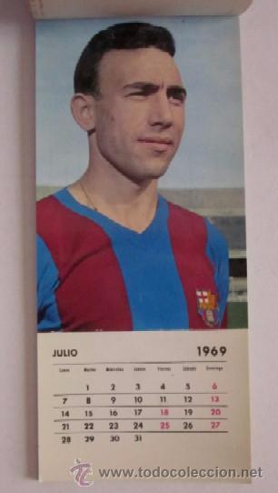 Coleccionismo deportivo: C.F. BARCELONA CALENDARIO AÑO 1969 - 13 POSTALES DE LOS JUGADORES DEL EQUIPO TEMPORADA 1969/70 - Foto 5 - 51919954