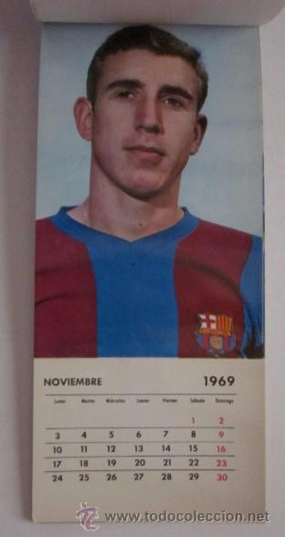 Coleccionismo deportivo: C.F. BARCELONA CALENDARIO AÑO 1969 - 13 POSTALES DE LOS JUGADORES DEL EQUIPO TEMPORADA 1969/70 - Foto 7 - 51919954