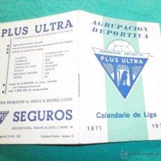 Coleccionismo deportivo: CALENDARIO DEPORTIVO AÑO 1971 72. Lote 51928155