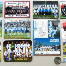 Coleccionismo deportivo: LOTE 11 CALENDARIO BOLSILLO EQUIPOS FUTBOL EXTRANJERO NO POSTAL ARSENAL CHELSEA FC ETC. Lote 52570219