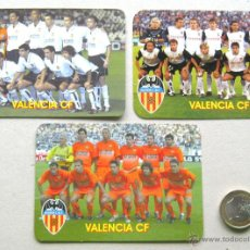 Coleccionismo deportivo: LOTE 3 CALENDARIO BOLSILLO EQUIPO VALENCIA CF DIFERENTES FUTBOL EDITORIAL RUSA 10X7.5 CM. Lote 52570347