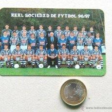 Coleccionismo deportivo: REAL SOCIEDAD EQUIPO 96 97 1996 1997 CALENDARIO BOLSILLO NO POSTAL FOTO TEAM PLANTILLA FUTBOL . Lote 52570439