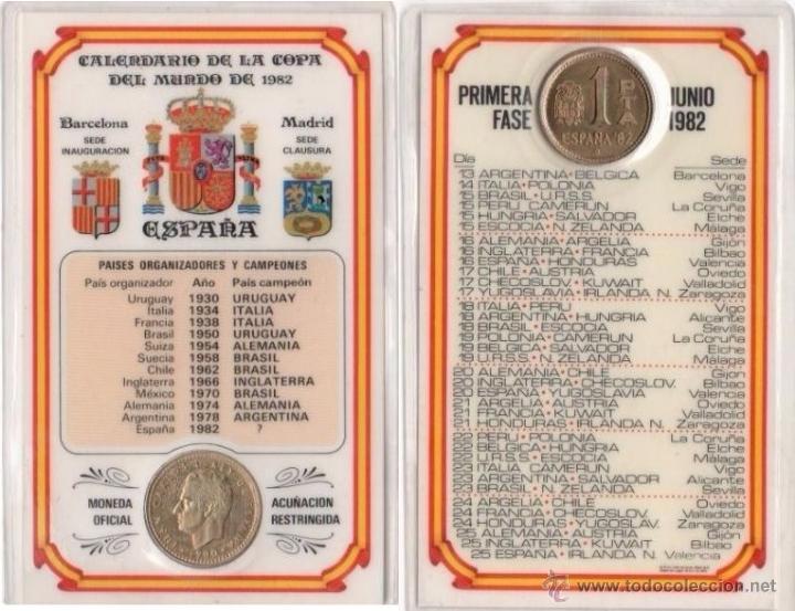 Calendario Mundial Futbol.Calendario Oficial Mundial Futbol Espana 1 982 Con Moneda Acunacion Restringida