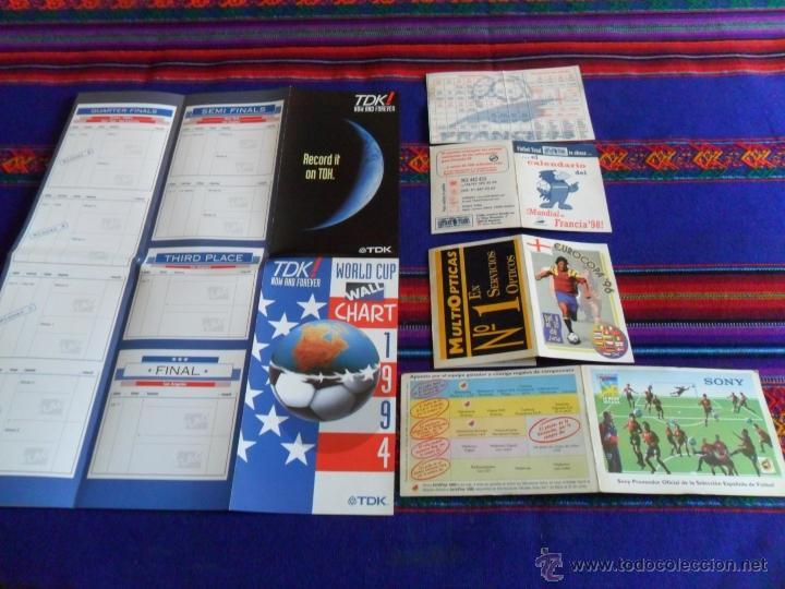 CALENDARIO TDK MUNDIAL USA 1994, FÚTBOL TOTAL MUNDIAL FRANCIA 1998 (2), EUROCOPA INGLATERRA 1996 (2) (Coleccionismo Deportivo - Documentos de Deportes - Calendarios)