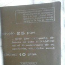 Coleccionismo deportivo: ANUARIO DINAMICO , 70-71.. Lote 53301578