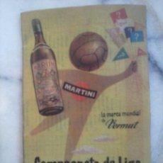 Coleccionismo deportivo: CALENDARIO FÚTBOL 1954/1955 MARTINI.. Lote 53523546