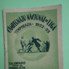 Coleccionismo deportivo: GUIA DEL QUINIELISTA TEMPORADA 1952-53. OBSEQUIO DE LA DIPUTACION DE VALENCIA. Lote 53901127