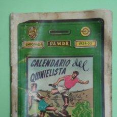 Coleccionismo deportivo: GUIA DEL QUINIELISTA TEMPORADA 1954-55. OBSEQUIO DE LA DIPUTACION DE VALENCIA. Lote 53901289