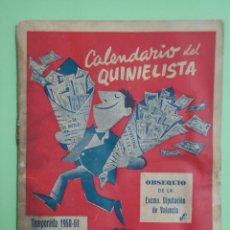 Coleccionismo deportivo: GUIA DEL QUINIELISTA TEMPORADA 1960-61. OBSEQUIO DE LA DIPUTACION DE VALENCIA. Lote 53901586