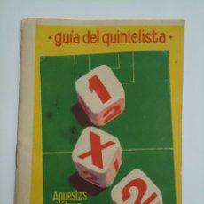 Coleccionismo deportivo: GUIA DEL QUINIELISTA TEMPORADA 1962-63. . Lote 53921501