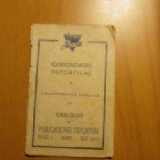 Coleccionismo deportivo: CURIOSIDADES DEPORTIVAS TEMPORADA 1941 - 42. Lote 54125987