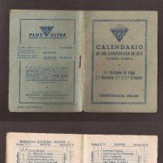 Coleccionismo deportivo: GOM-88_CALENDARIO DE LIGA 1961-62 PLUS ULTRA. Lote 54499292