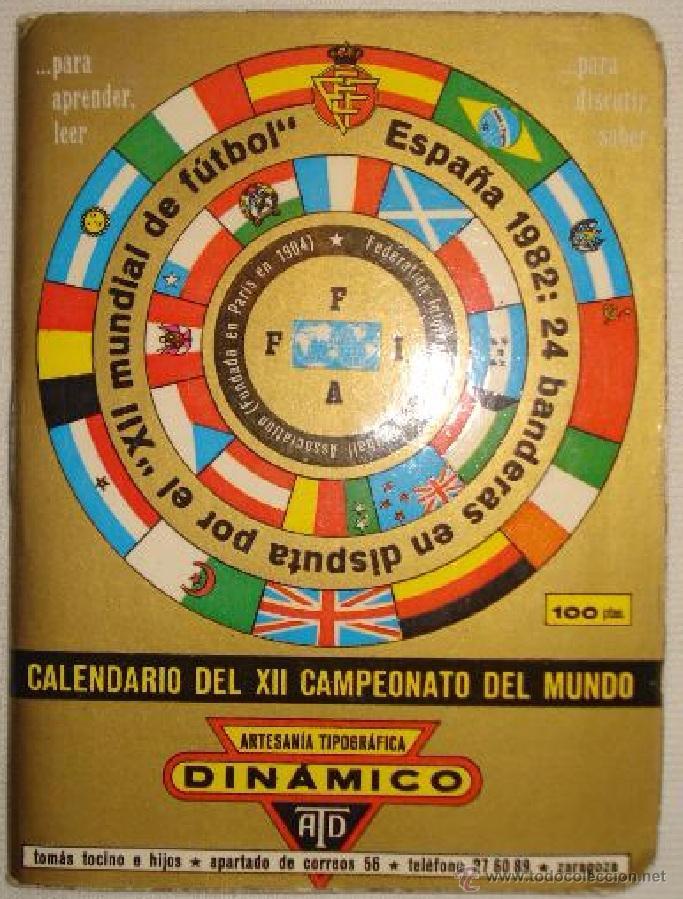 CALENDARIO DINAMICO MUNDIAL 1982 ----- (REF-HAMIMU1CEES1) (Coleccionismo Deportivo - Documentos de Deportes - Calendarios)