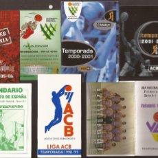 Coleccionismo deportivo: AMG-106_LOTE CALENDARIOS TEMPORADA BASKET. Lote 54727727