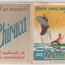 Coleccionismo deportivo: BOTAS CHIRUCA. CALENDARIO SIN USO TEMPORADA FUTBOL 1971-1972. Lote 54740123