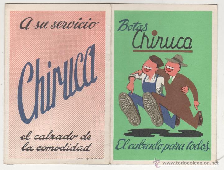 BOTAS CHIRUCA. CALENDARIO SIN USO TEMPORADA FUTBOL 1972-1973 (Coleccionismo Deportivo - Documentos de Deportes - Calendarios)