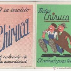 Coleccionismo deportivo: BOTAS CHIRUCA. CALENDARIO SIN USO TEMPORADA FUTBOL 1972-1973. Lote 54740132
