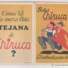 Coleccionismo deportivo: BOTAS CHIRUCA. CALENDARIO SIN USO TEMPORADA FUTBOL 1976-1977. Lote 54740138
