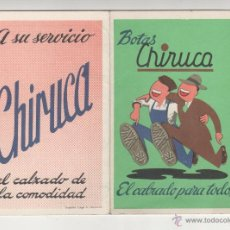 Coleccionismo deportivo: BOTAS CHIRUCA. CALENDARIO SIN USO TEMPORADA FUTBOL 1972-1973. Lote 54740160