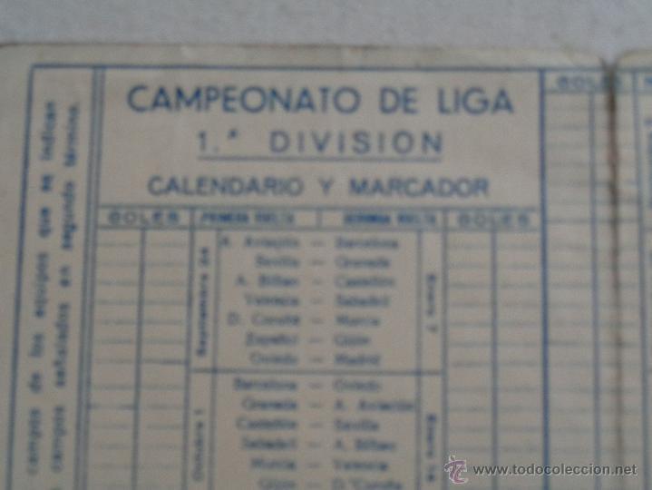 Coleccionismo deportivo: CALENDARIO DE FUTBOL 1945-46,COÑAC FUNDADOR.47020 - Foto 4 - 55021363