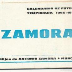 Coleccionismo deportivo: CALENDARIO DE FÚTBOL. TEMPORADA 1965-1966. SIN USAR. PRIMERA, SEGUNDA Y TERCERA DIVISIÓN GRUPO 10.. Lote 55198736