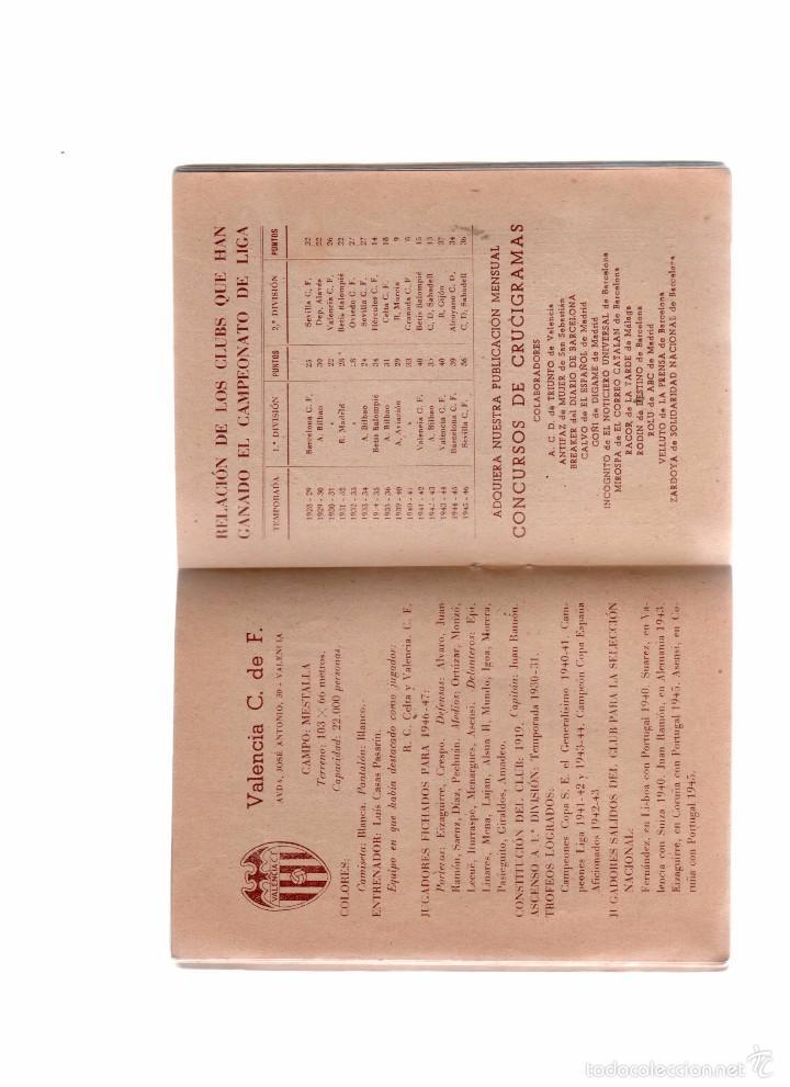 Coleccionismo deportivo: calendario de futbol temporada 1946-47 - Foto 2 - 56156603