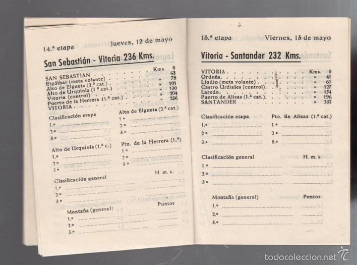 Coleccionismo deportivo: GUIA. XV VUELTA CICLISTA A ESPAÑA. 1960. VER - Foto 4 - 56440640