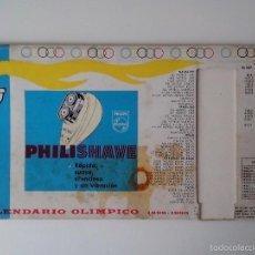 Coleccionismo deportivo: CALENDARIO OLIMPICO 1896 -1960 PHILISHAVE. Lote 56512786