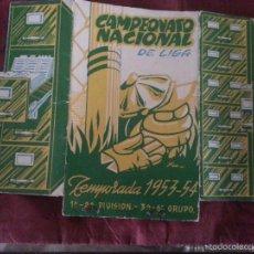 Coleccionismo deportivo: CAMPEONATO LIGA TEMPORADA 1953 1954 CALENDARIO FUTBOL CON TODOS LOS RESULTADOS REPETO CADIZ . Lote 56645531