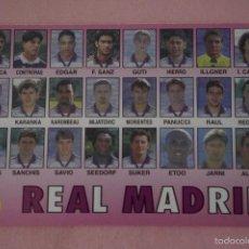 Coleccionismo deportivo: CALENDARIO DE FÚTBOL: EQUIPO DEL REAL MADRID,AÑO 1999,VER FOTO TRASERA,HAZTE CON EL. Lote 243560740