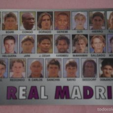 Coleccionismo deportivo: CALENDARIO DE FÚTBOL: EQUIPO DEL REAL MADRID,AÑO 2000,VER FOTO TRASERA,HAZTE CON EL. Lote 243560680