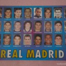 Coleccionismo deportivo: CALENDARIO DE FÚTBOL: EQUIPO DEL REAL MADRID,AÑO 2001,VER FOTO TRASERA,HAZTE CON EL. Lote 243560655