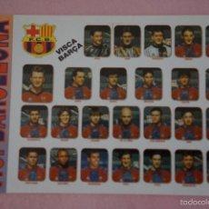 Coleccionismo deportivo: CALENDARIO DE FÚTBOL: EQUIPO DEL F.C. BARCELONA,AÑO 1998,VER FOTO TRASERA,HAZTE CON EL. Lote 243560605