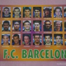 Coleccionismo deportivo: CALENDARIO DE FÚTBOL: EQUIPO DEL F.C. BARCELONA,AÑO 2001,VER FOTO TRASERA,HAZTE CON EL. Lote 243560595
