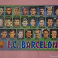 Coleccionismo deportivo: CALENDARIO DE FÚTBOL: EQUIPO DEL F.C. BARCELONA,AÑO 2000,VER FOTO TRASERA,HAZTE CON EL. Lote 243560575