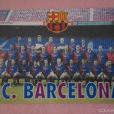 Coleccionismo deportivo: CALENDARIO DE FÚTBOL: EQUIPO DEL F.C. BARCELONA,AÑO 2000,VER FOTO TRASERA,HAZTE CON EL. Lote 228102430