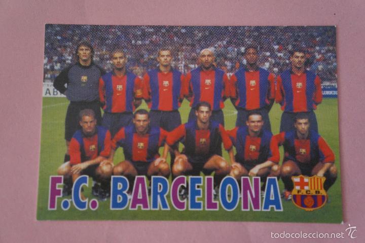 CALENDARIO DE FÚTBOL: EQUIPO DEL F.C. BARCELONA,AÑO 2001,VER FOTO TRASERA,HAZTE CON EL (Coleccionismo Deportivo - Documentos de Deportes - Calendarios)