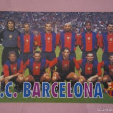 Coleccionismo deportivo: CALENDARIO DE FÚTBOL: EQUIPO DEL F.C. BARCELONA,AÑO 2001,VER FOTO TRASERA,HAZTE CON EL. Lote 228102435