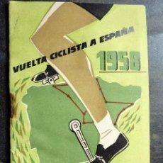 Coleccionismo deportivo: LIBRITO VUELTA CICLISTA A ESPAÑA . 1958 MAPA , ITINERARIO ETAPAS . SIN USAR. Lote 56701940