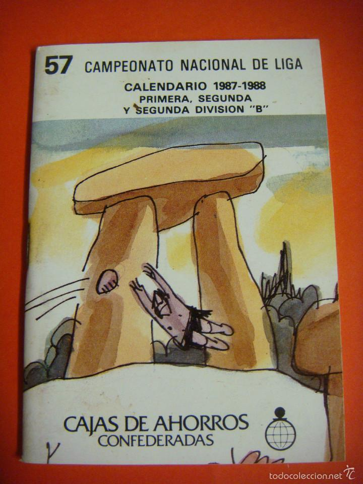 CALENDARIO 57 CAMPEONATO NACIONAL DE LIGA 1987-1988 (Coleccionismo Deportivo - Documentos de Deportes - Calendarios)