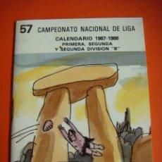 Coleccionismo deportivo: CALENDARIO 57 CAMPEONATO NACIONAL DE LIGA 1987-1988. Lote 57544019