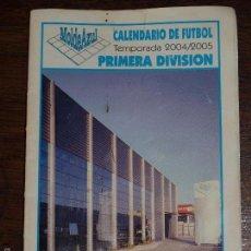 Coleccionismo deportivo: CALENDARIO DE FUTBOL. TEMPORADA 2004/2005. MOLDE AZUL.12 X 8,5 CM. VER FOTOS PARA VER DETALLES.. Lote 57762106