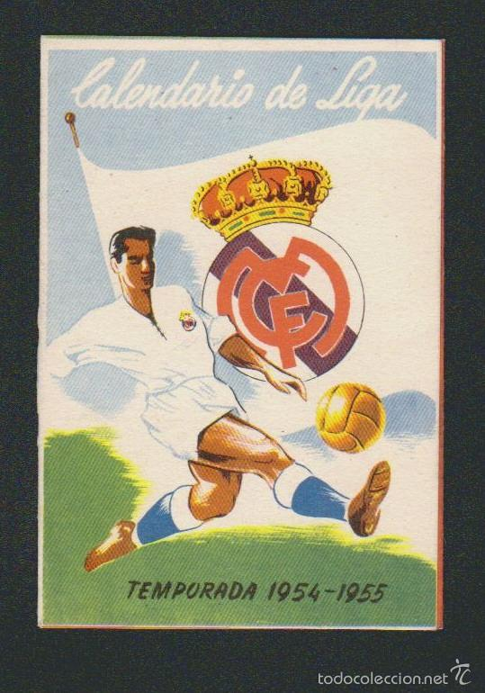 CALENDARIO Y RESULTADOS DE LIGA DE PRIMERA DIVISIÓN.TEMPORADA 1954-1955. (Coleccionismo Deportivo - Documentos de Deportes - Calendarios)