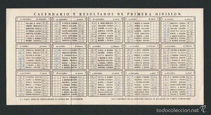 Coleccionismo deportivo: Calendario y resultados de liga de primera división.Temporada 1954-1955. - Foto 2 - 57799944